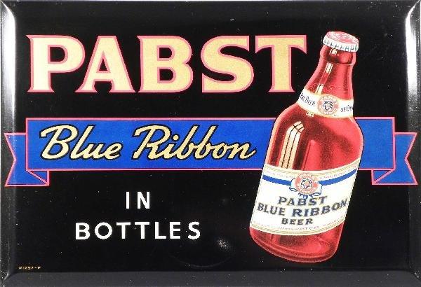517: Pabst Blue Ribbon Beer Beveled Tin Sign
