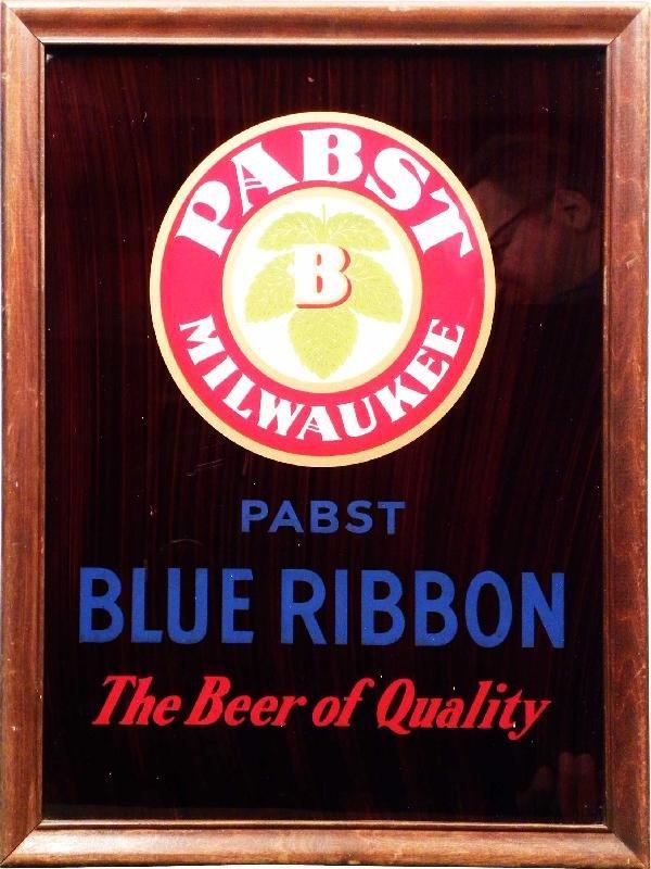525: Pabst Blue Ribbon Beer Light Up Corner Sign