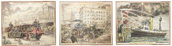 1235: 3 Prints, Modern Firefighting Apparatus