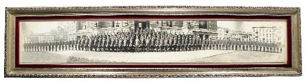 1236: 1923 Panoramic Photo, Bureau of Fire