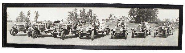 1237: 1920's Panoramic Photo Baltimore Fire Depart.