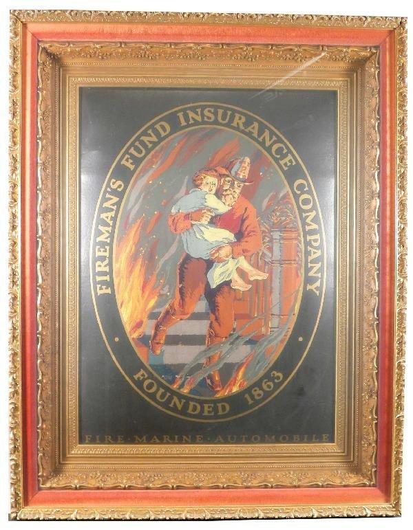 1243: Fireman's Fund Insurance Co. Cardboard Sign