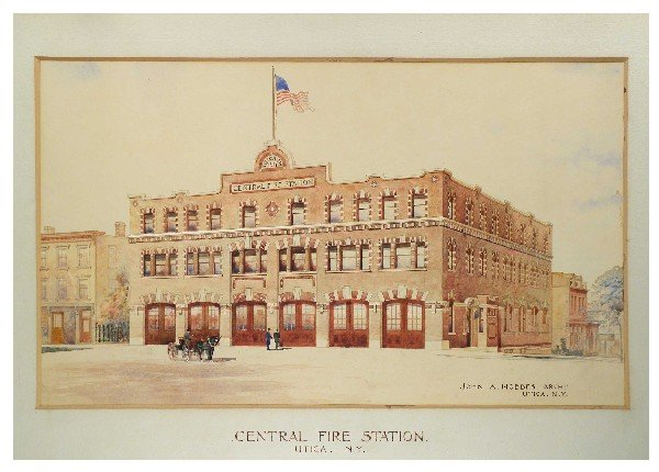 1249: Architects Original Drawing, Central Fire Station