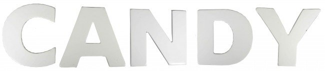 501: Porcelain Candy Sign, individual letters