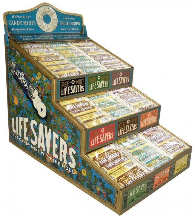 503: Lifesavers Embossed Tin Store Display