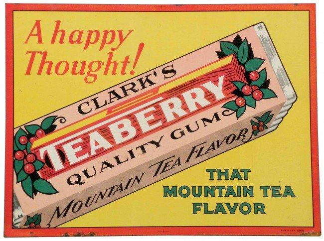 505: Clark's Teaberry Gum Tin Sign