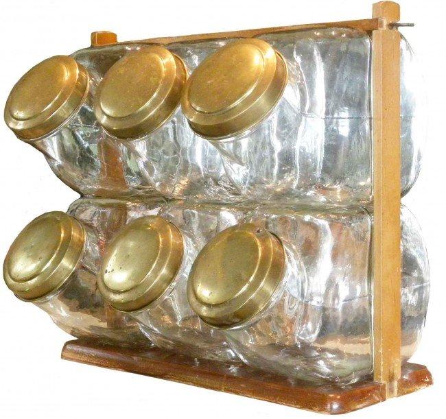 506: Candy Jar Rack with six Candy Jars