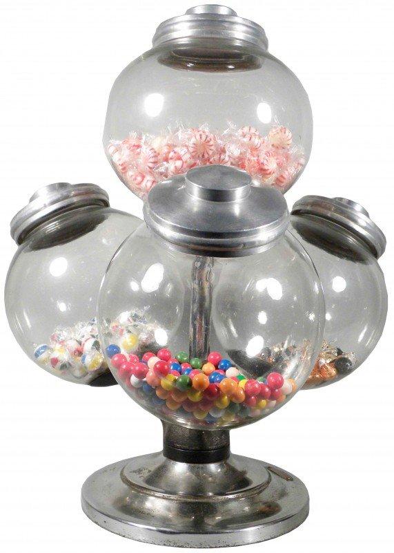 507: Rare Rotating Super B.B.L.  Candy Display Jars