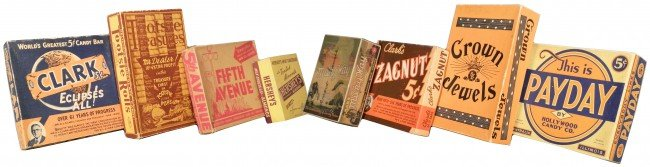 510: Lot of Eight Candy Bar Boxes