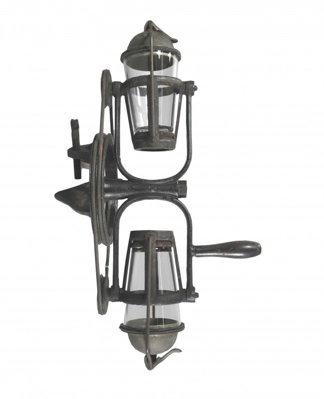 513: Rare Cast Iron Counter Mount Malt Mixer