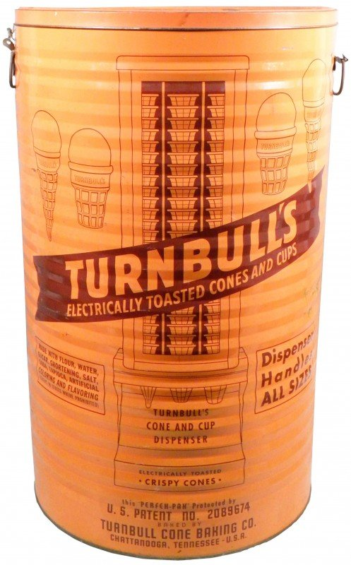 522: Turnbull's Ice Cream Cone Shipping Tin