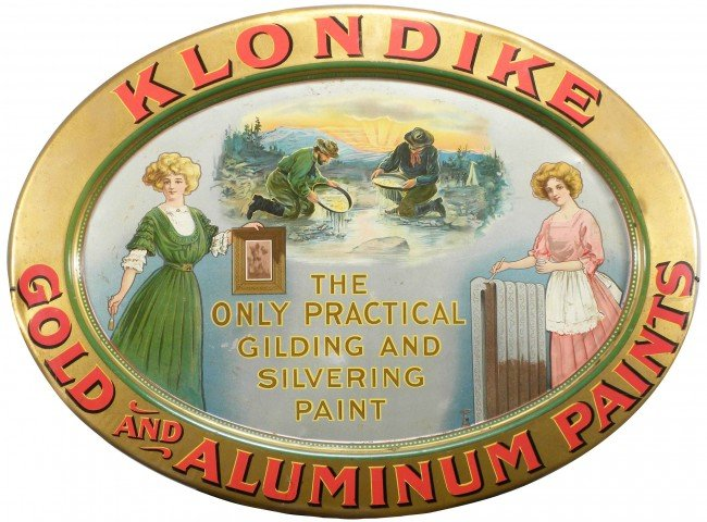 1301: Klondike Gold/Aluminum Paint Self Framed Tin