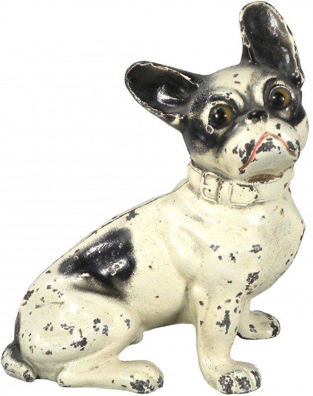 1308: Cast Iron Boston Terrier Sitting Door Stop