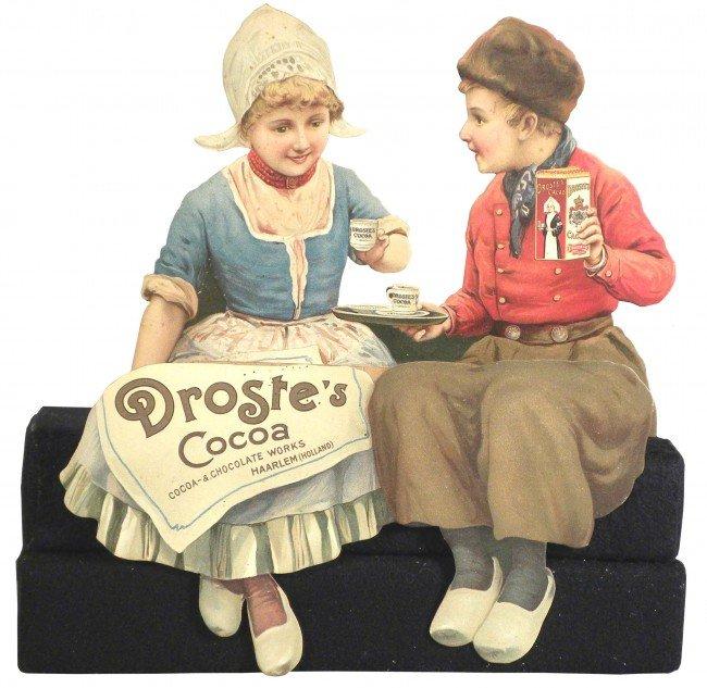 1316: Droste's Cocoa 3-D Die Cut Shelf Sitter
