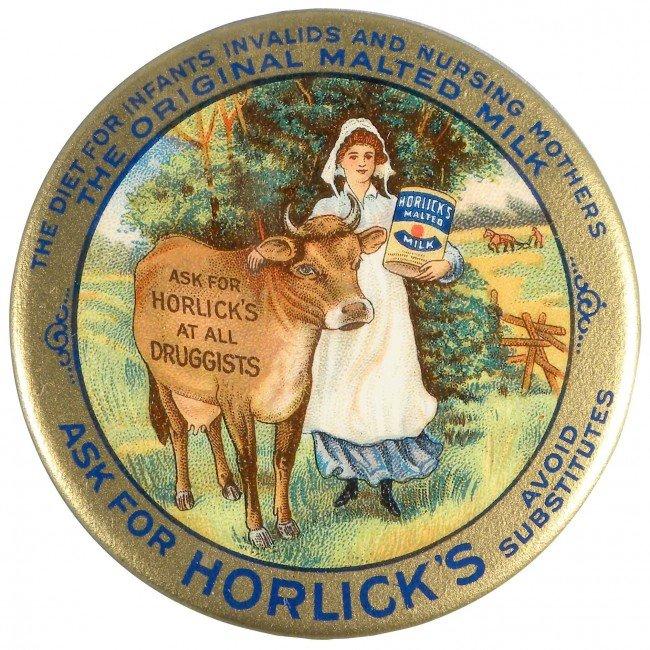 1319: Horlick's Malted Milk Celluloid Pocket Mirror