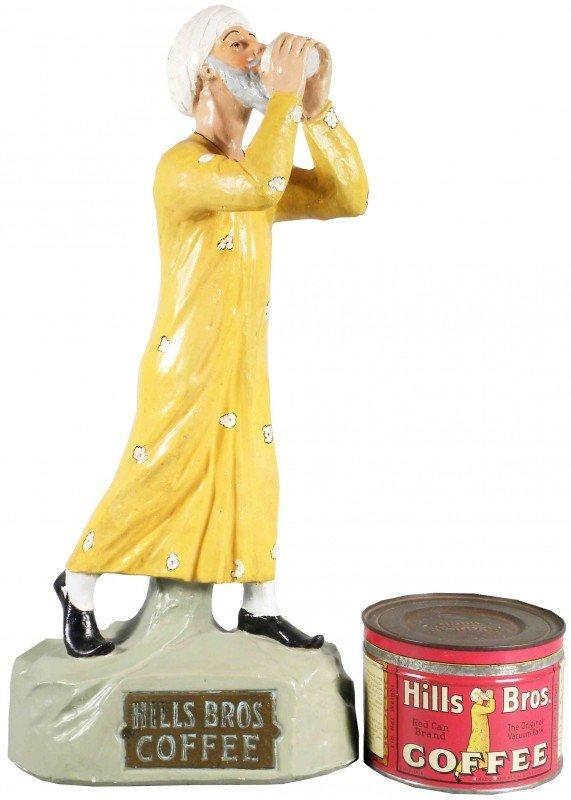 1322: Hills Bros. Coffee Chalk ware Store Display Figur