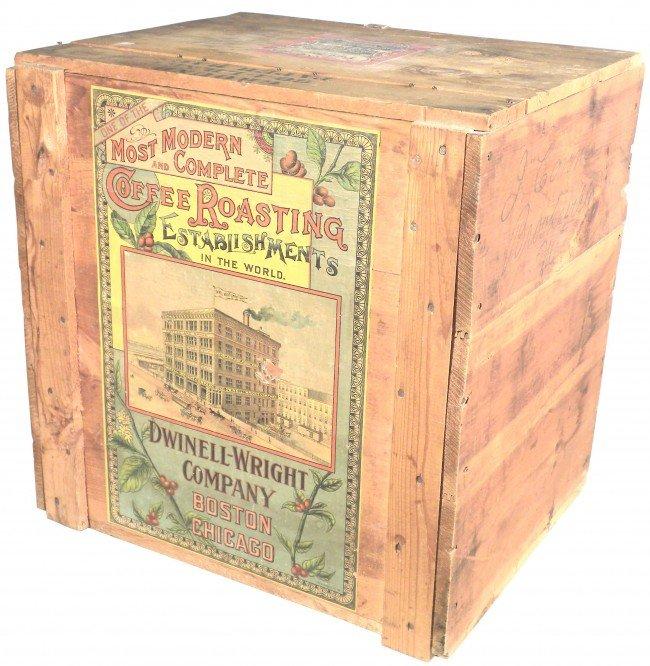 1323: Dwinell-Wright Company Wood Coffee Store Bin