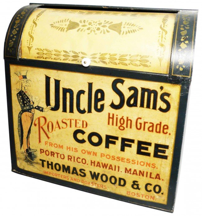 1324: Uncle Sam Coffee Tin Store Bin