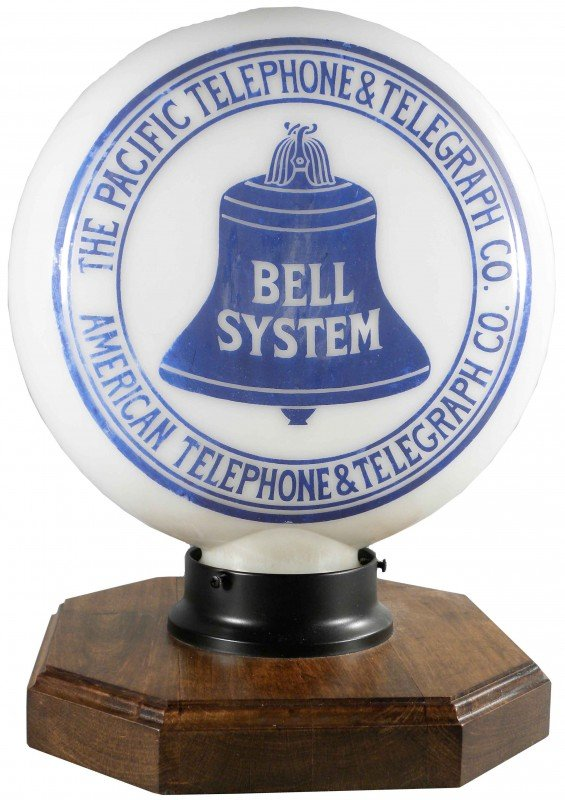 1410C: Telegraph Bell System Glass Light Globe