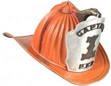 1652: Aluminum Fire Helmet, Captian #1, P.F.D.