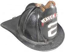 1796: Leather Firemen's Helmet, Weaver Street #2