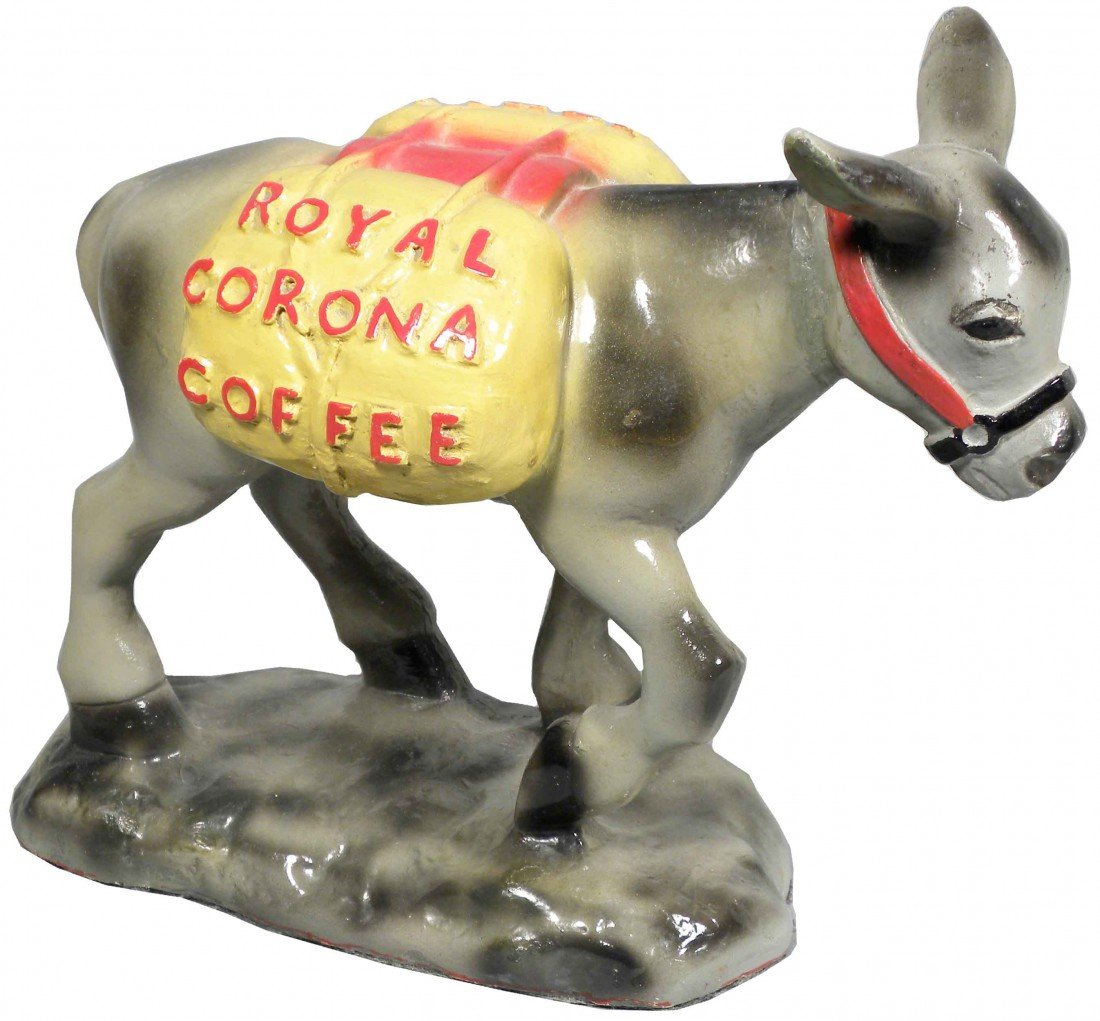 501B: Royal Corona Coffee Figural Store Display