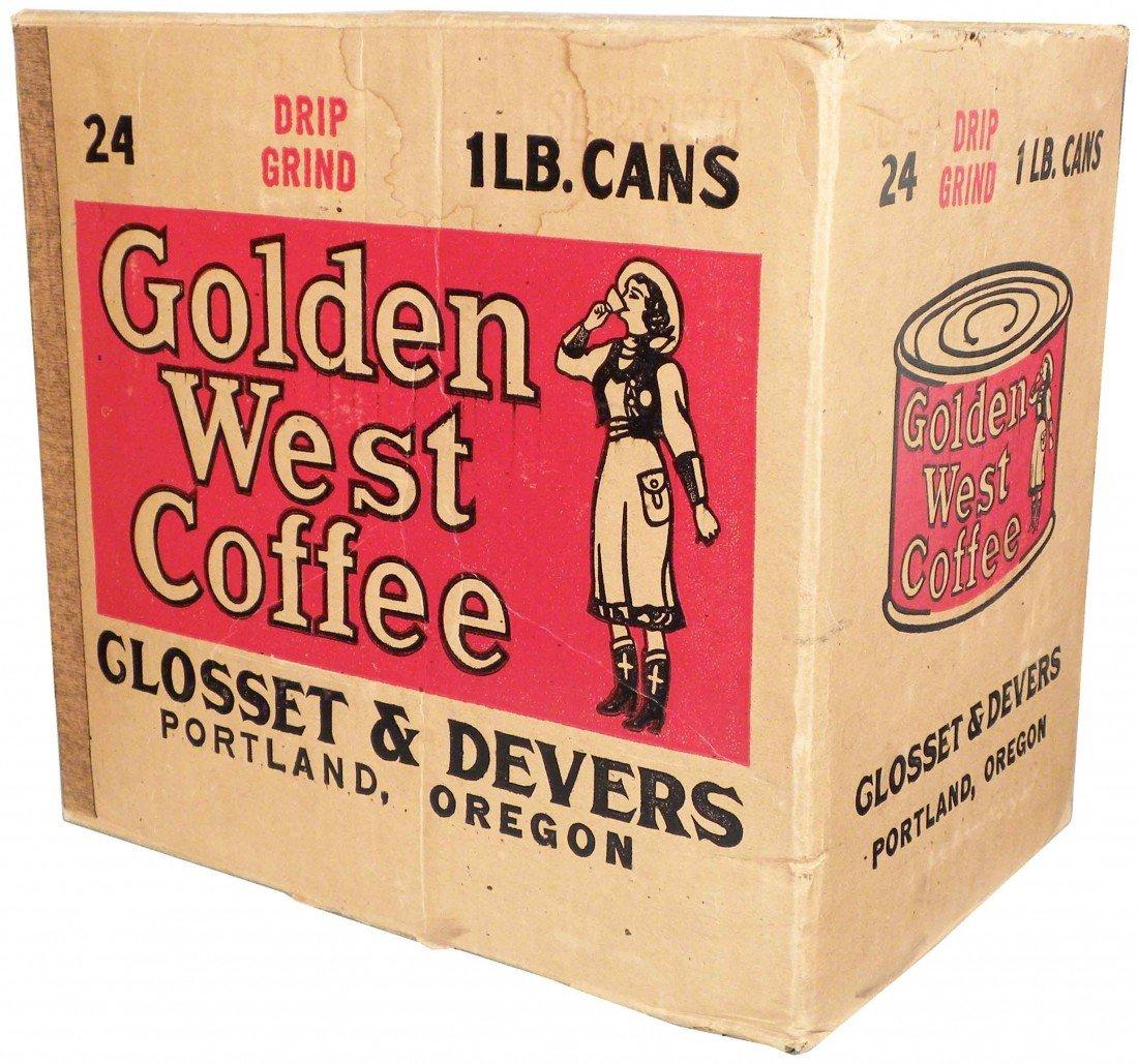 502: Golden West Coffee Store Cardboard Box