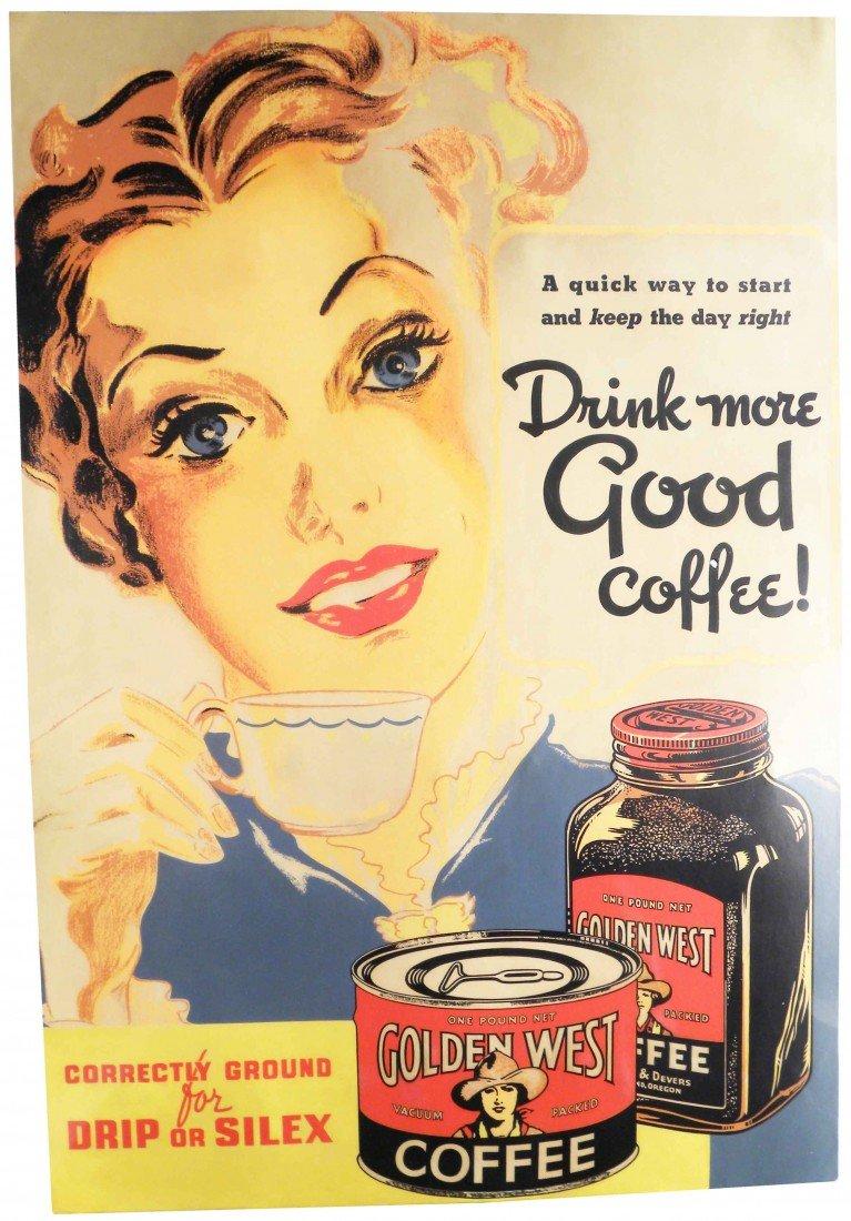 503: Golden West Coffee Cardboard Sign