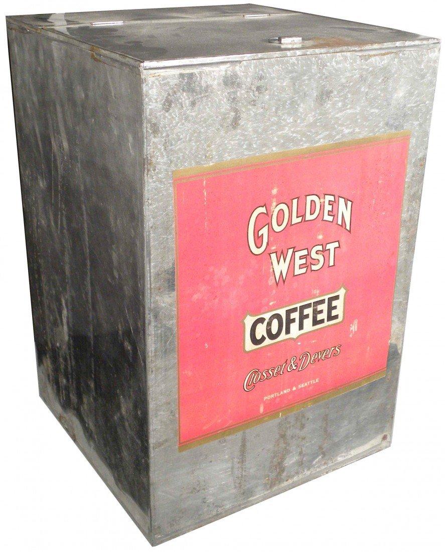 504: Golden West Coffee Tin Store Bin