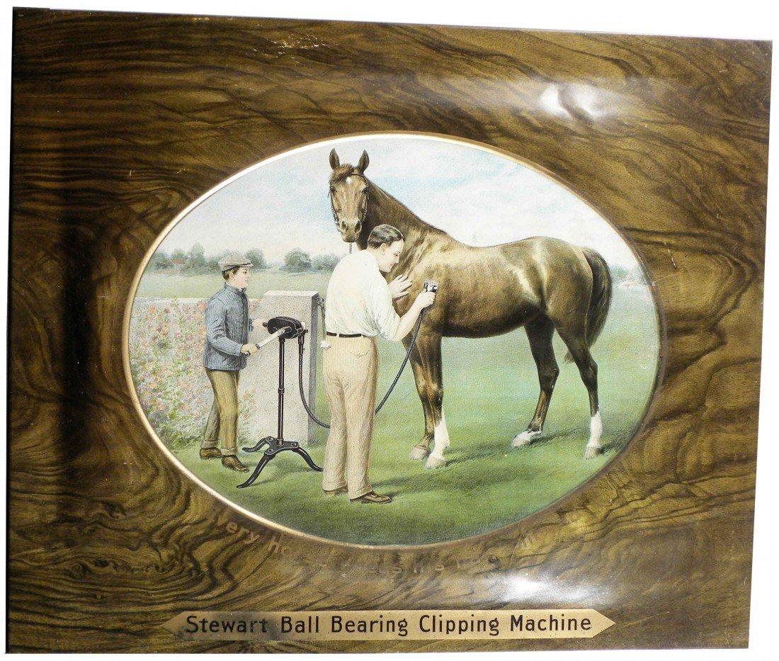 512: Stewart Ball Bearing Clipping Machine Tin Sign