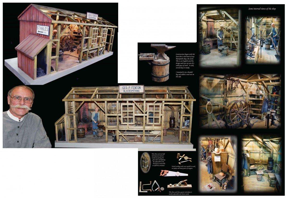 514: Fred Crissman's Blacksmith Shop in Miniature