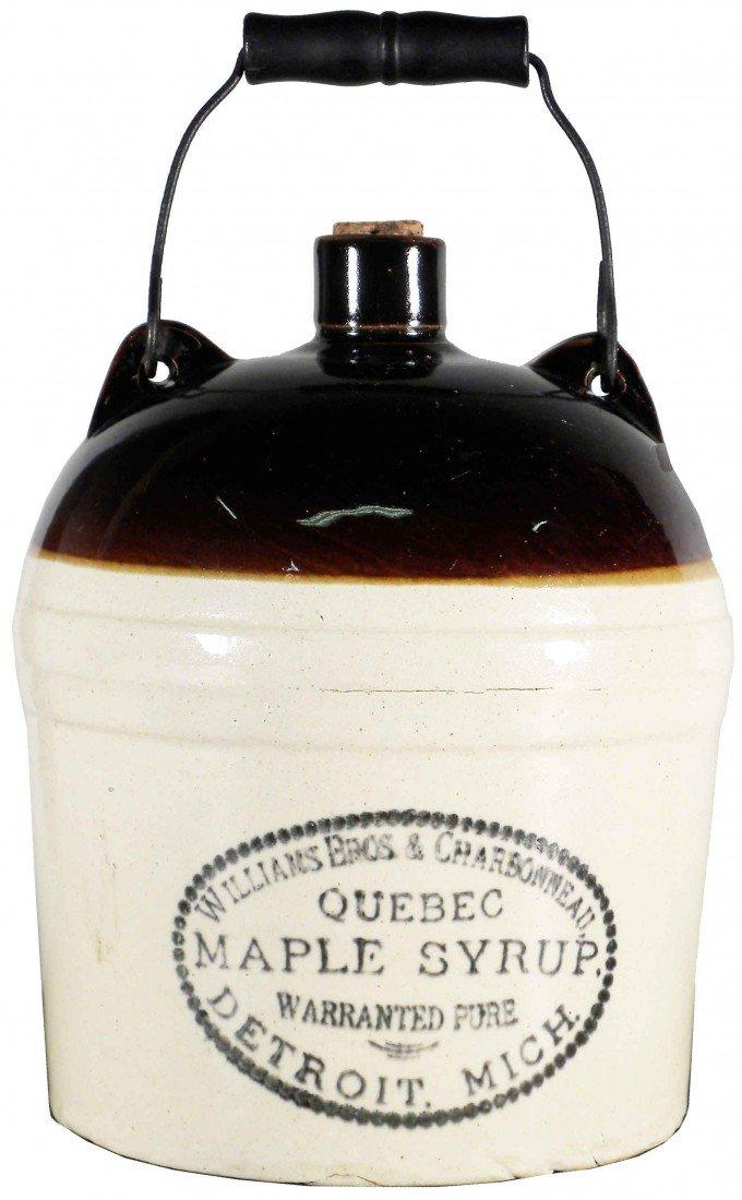 516: Quebec Maple Syrup Stoneware Jug