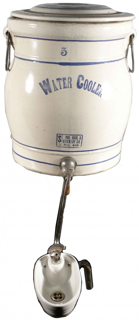 518: 5 Gallon Water Cooler w/ Rare Fountain