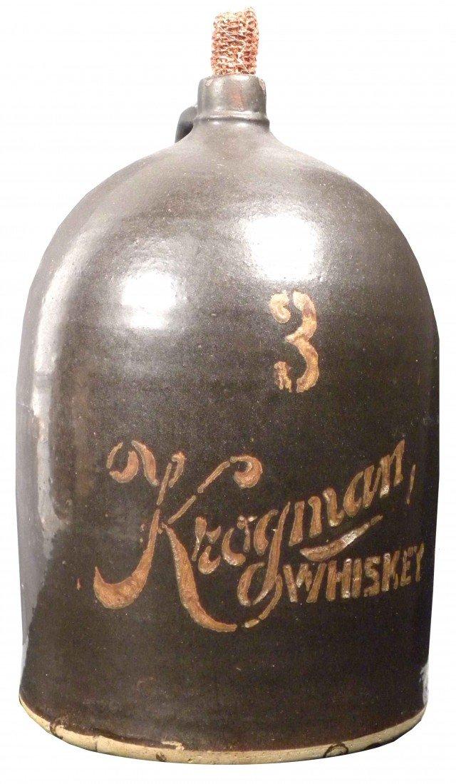 520: Kroginan Whiskey 3 Gallon Crock Jug