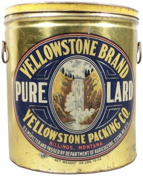 Yellowstone Brand Pure Lard Tin