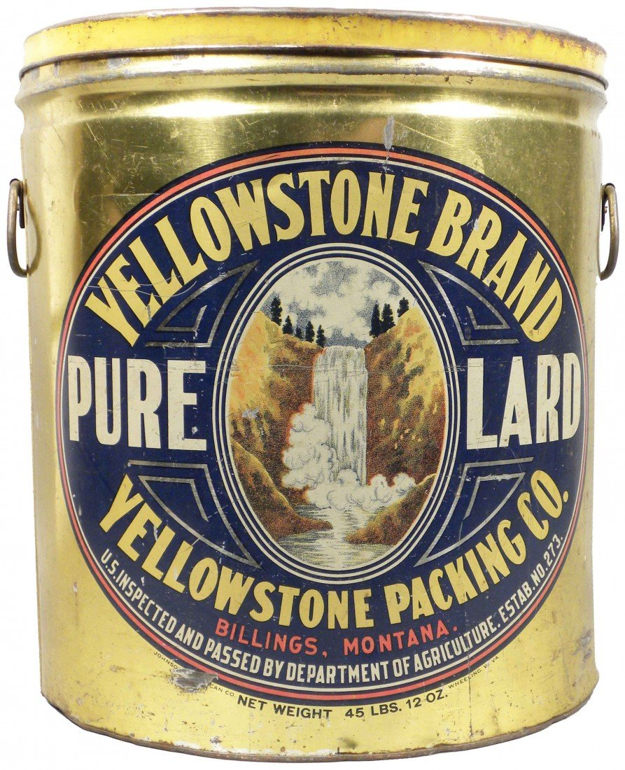 523: Yellowstone Brand Pure Lard Tin