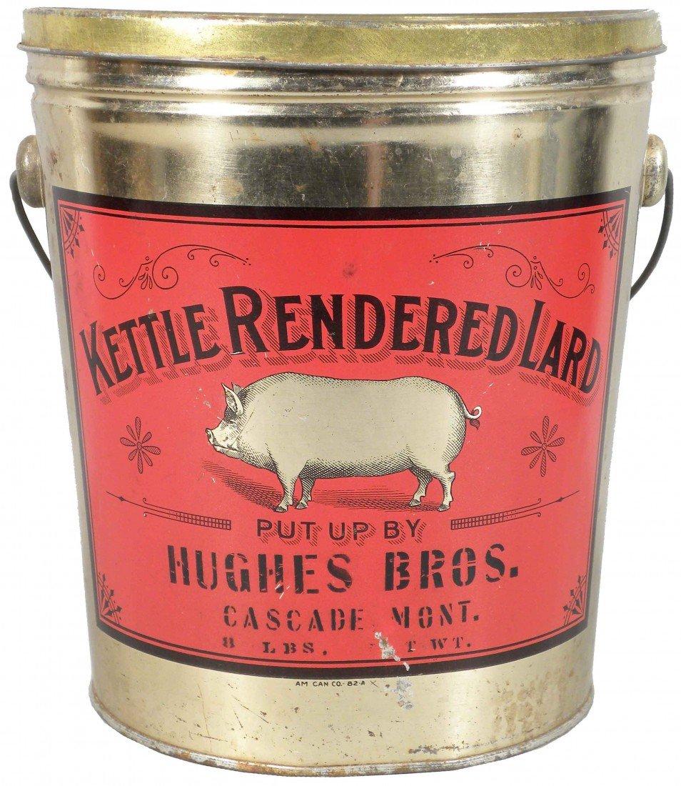 525: Kettle Rendered Lard Tin Pail