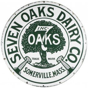 7 Oaks Dairy Porcelain Sign