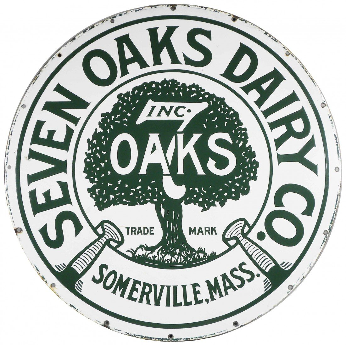 526: 7 Oaks Dairy Porcelain Sign