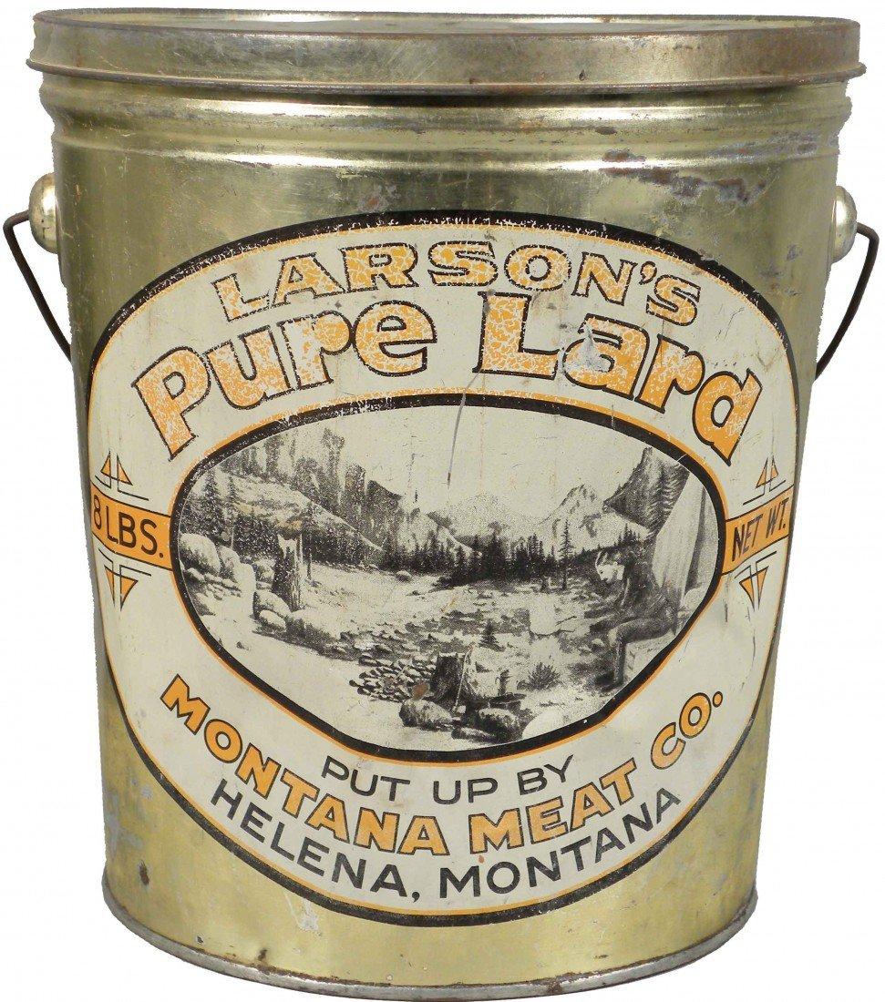528: Larson's Pure Lard Tin Pail