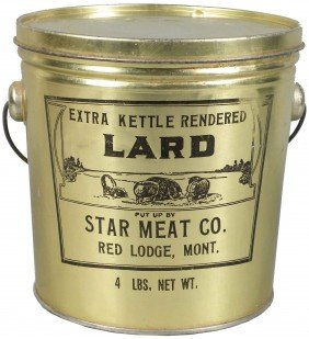 Star Meat Co. Lard Tin Pail