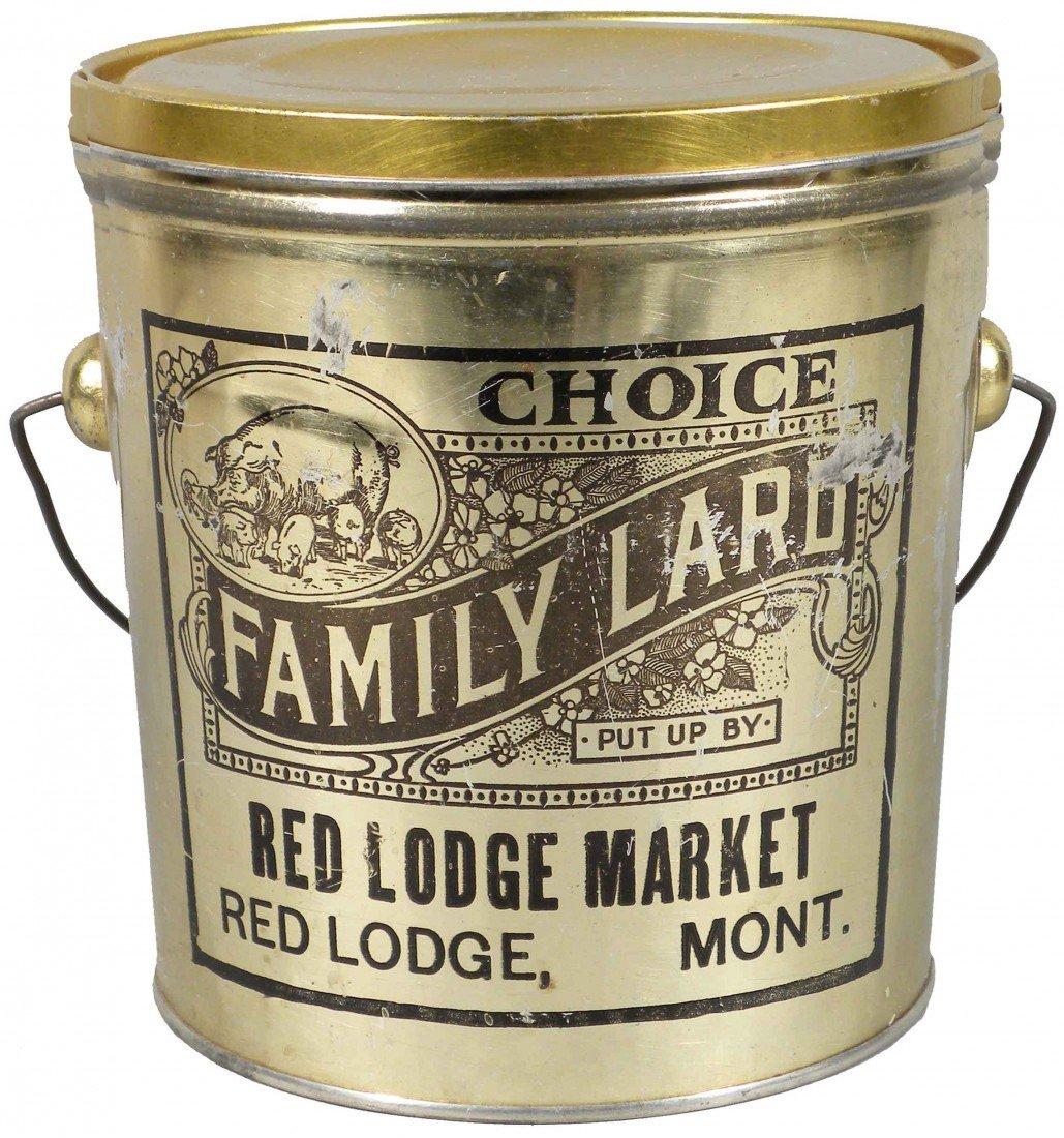 530: Red Lodge Market Choice Family Lard Tin Pail
