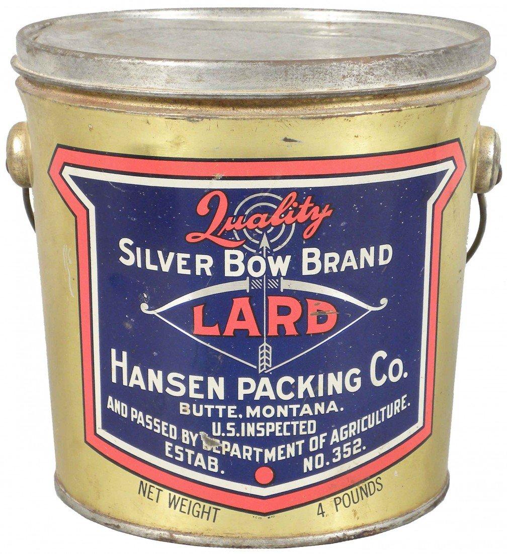 531: Silver Bow Brand Lard Tin Pail