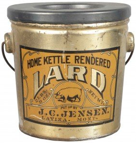 Home Kettle Rendered Lard Tin Pail