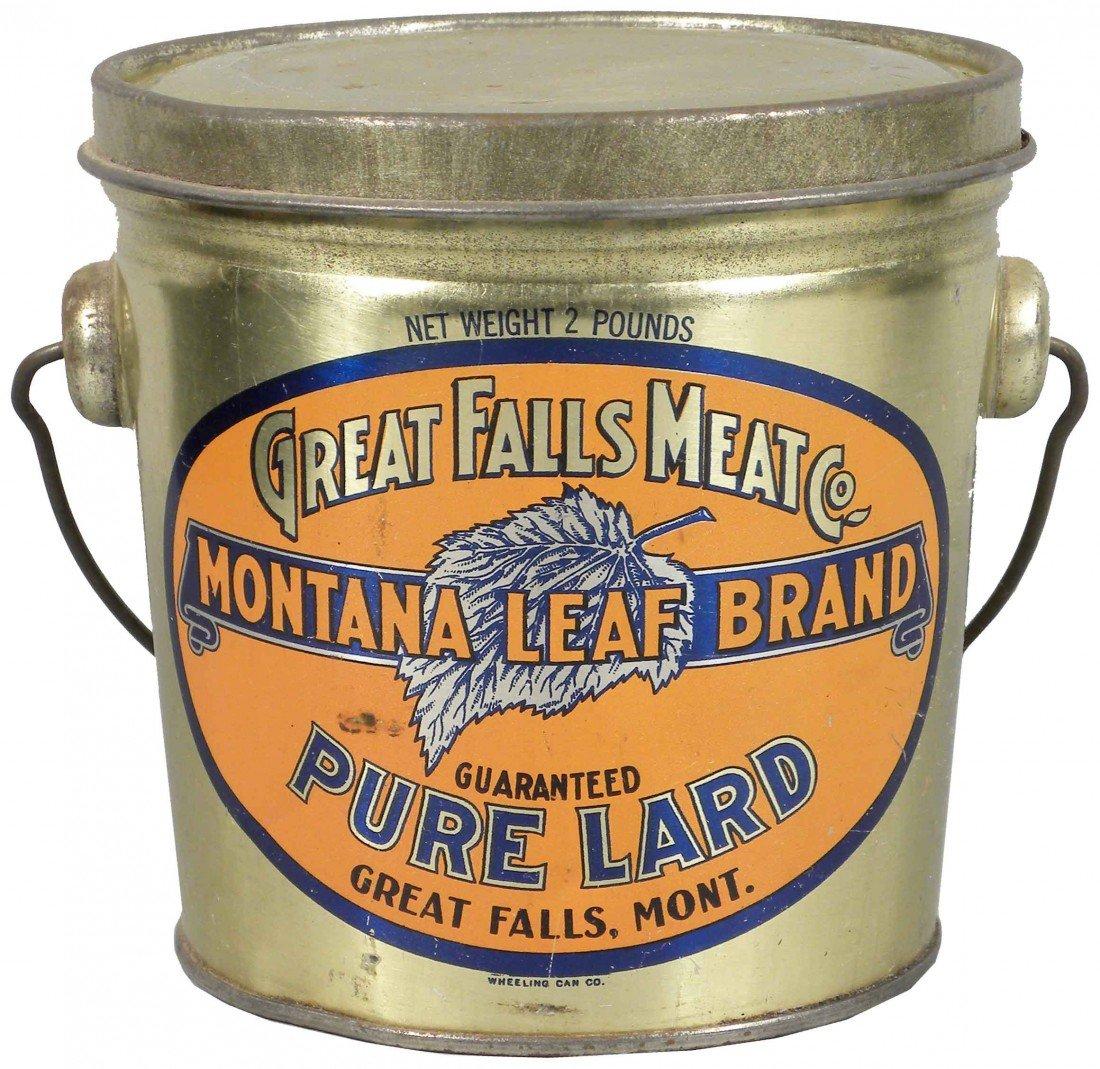 533: Great Falls Meat Co. Pure Lard Tin Pail