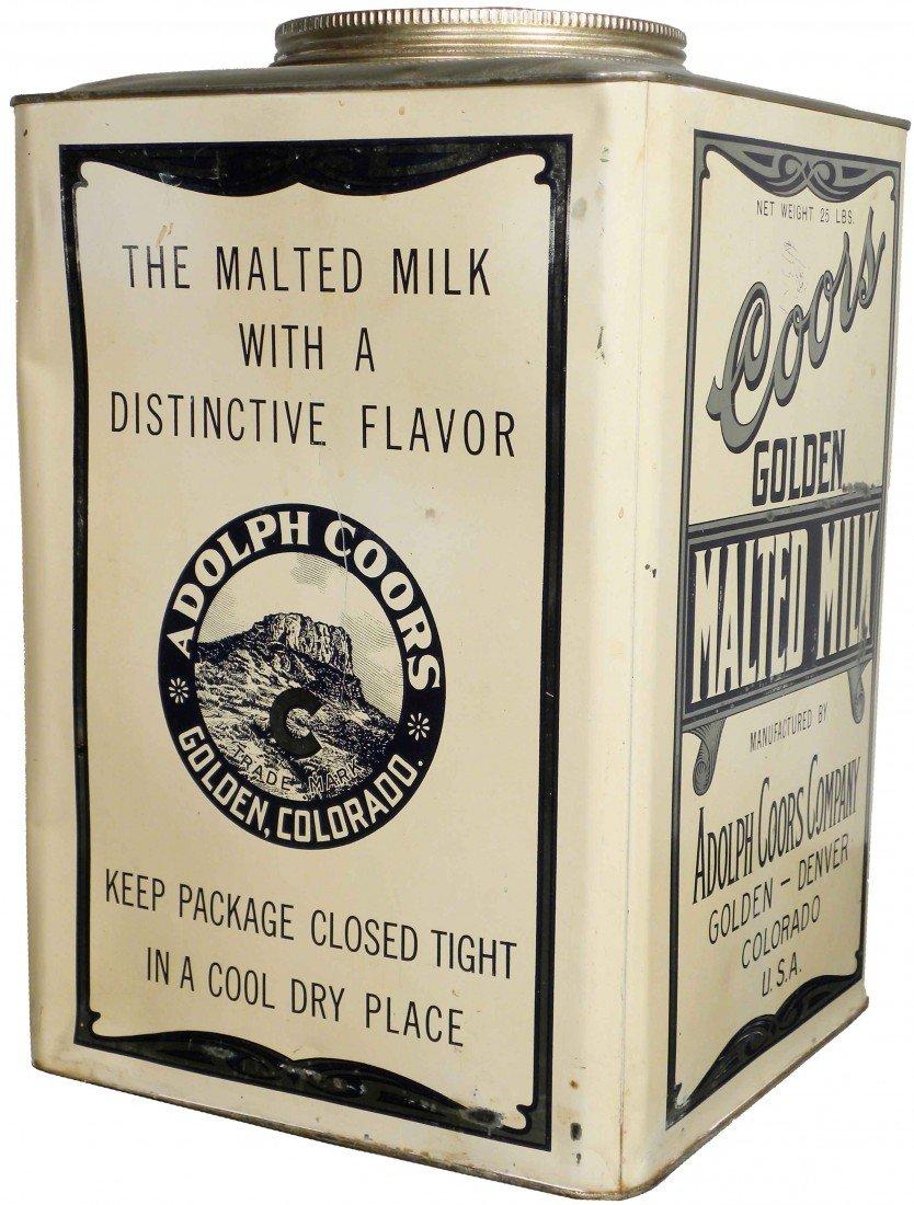 535: Coors Golden Malted Milk 25# Store Tin
