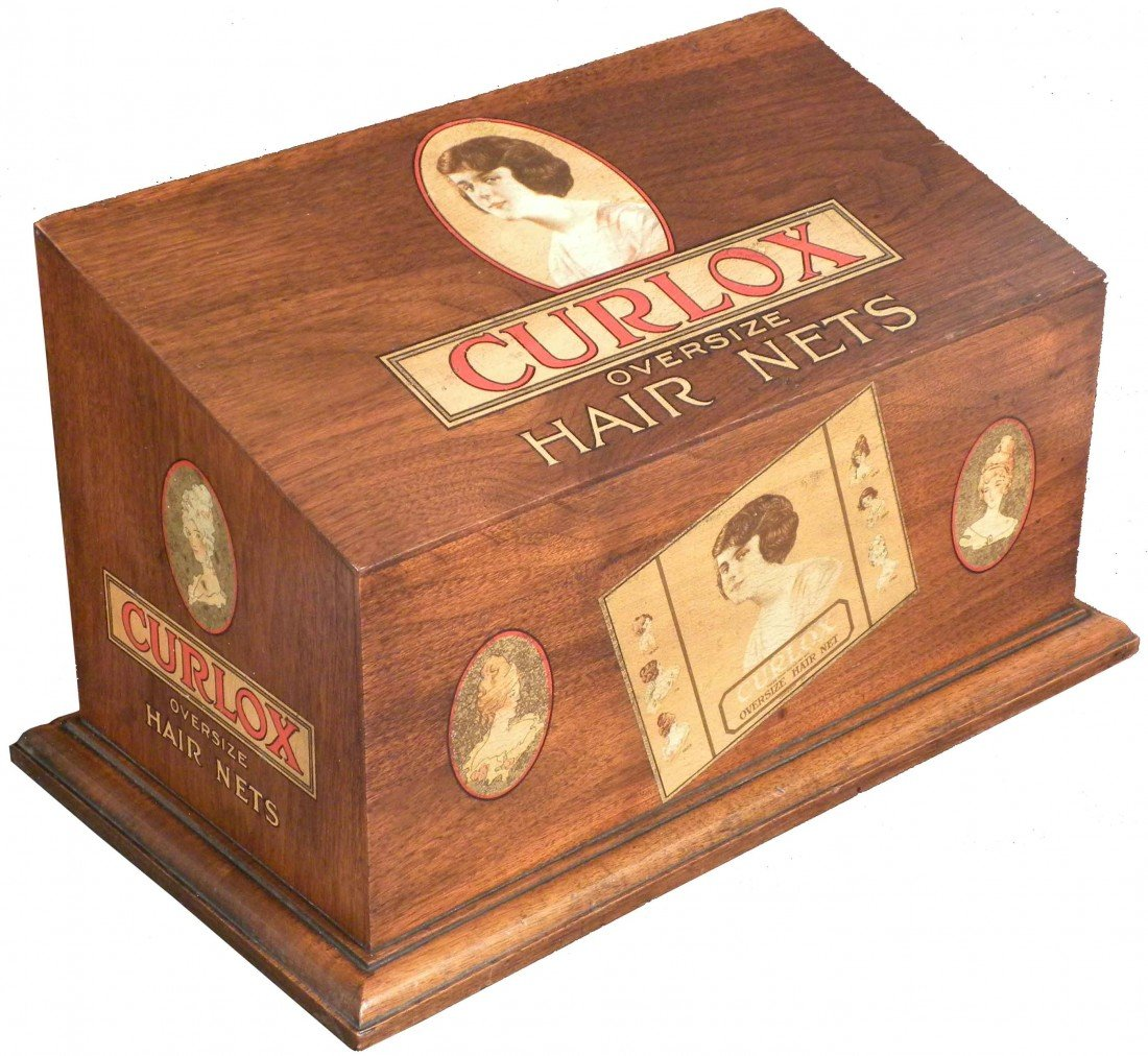 539: Curlox Oversize Hair Nets Oak Store Display