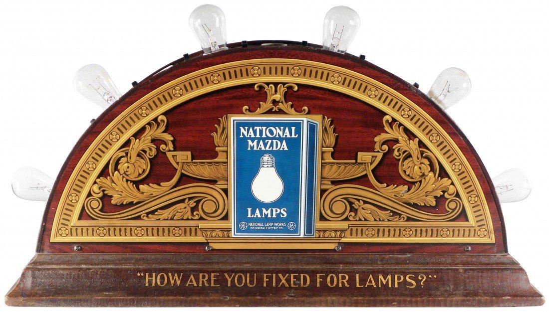 541: National Mazda Lamps Tin Store Display