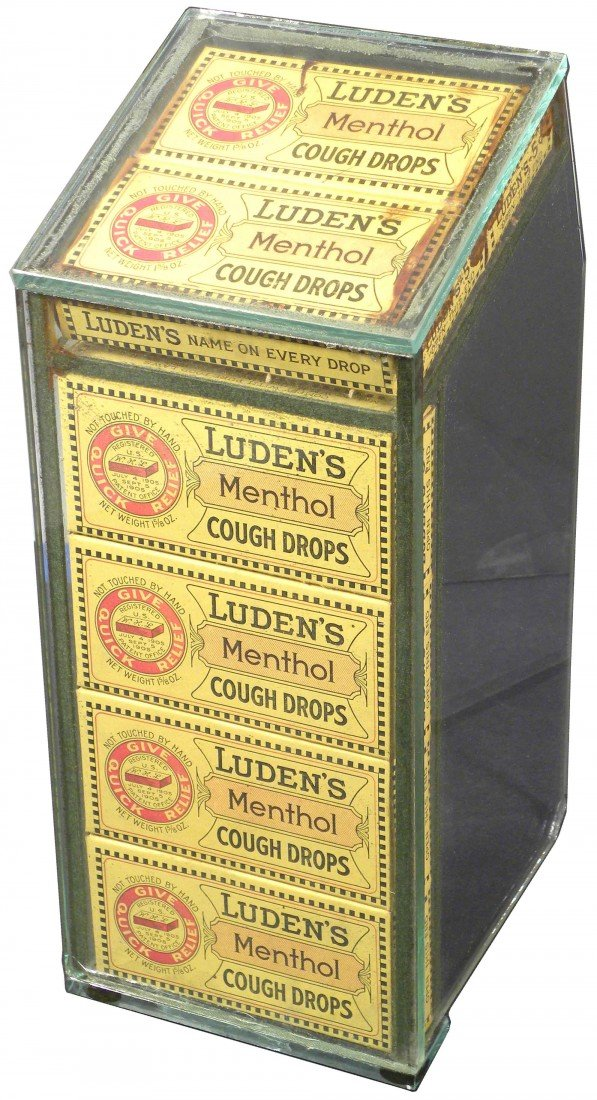 542: Luden's Menthol Cough Drops Store Display Case
