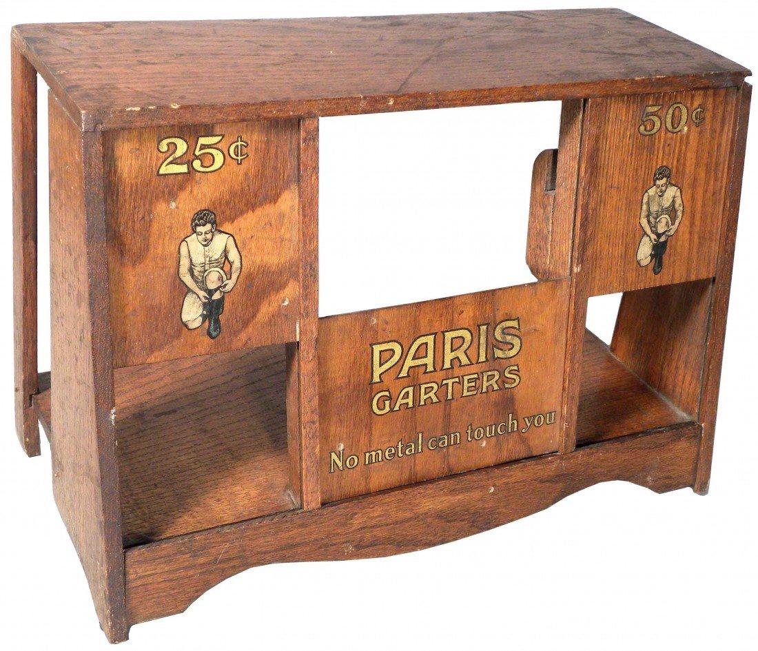 545: Paris Garters Wood Store Display